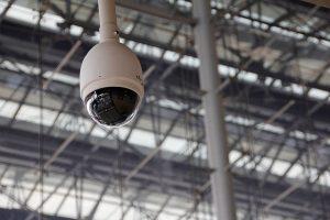 Moderne Videoüberwachung auf dem Bahnhof