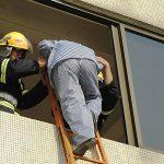 Rettung vom Feuerwehrmann, Krankenhaus